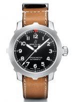 Спортивные часы Breitling Navitimer-AB2040101B1X1 часы с большим диаметром, с черным циферблатом и телячьей кожей.
