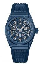 Мужские спортивные часы Zenith Defy-49_9003_670_51_R793 в керамическом корпусе, синий скелетированный циферблат, синий каучук