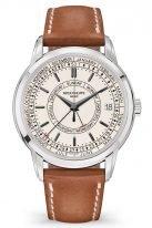 Мужские часы Patek Philippe Complications 5212A-001 в стальном корпусе с индикацией дня недели и номера недели, серебристый циферблат, телячья кожа.