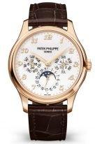 Мужские часы Patek Philippe Grand Complications 5327R-001 в розовом золоте, вечный календарь с фазами Луны, светлый циферблат, темно-коричневая кожа кроко.