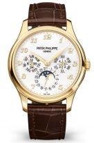 Мужские часы Patek Philippe Grand Complications 5327J-001 в желтом золоте, вечный календарь с фазами Луны, светлый циферблат, шоколадная кожа кроко.
