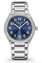 Женские часы Patek Philippe Twenty4 7300-1200A-001 в стальном корпусе, бриллианты, синий циферблат, стальной браслет.
