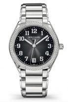 Женские часы Patek Philippe Twenty4 7300-1200A-010 в стальном корпусе, бриллианты, серый циферблат, стальной браслет.