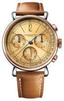 Мужские классические часы Audemars Piguet Remaster01 26595SR_OO_A032VE_01 хронограф в корпусе биколорном (сталь и розовое золото), золотой циферблат, коричневая телячья кожа.