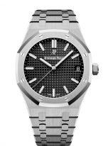 Мужские спортивные часы Audemars Piguet Royal Oak 15500ST_OO_1220ST_03 в стальном корпусе с черным циферблатом на стальном браслете.