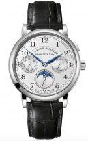 Мужские классические часы Lange Sohne 1815 238 026 в белом золоте, годовой календарь с фазами Луны, светлый циферблат, кожа кроко.