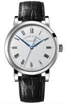 Мужские классические часы Lange Sohne Richard Lange 232 026 в белом золоте, светлый циферблат, кожа кроко.