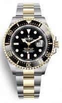 Мужские спортивные часы Rolex Sea Dweller 126 603 в биколорном корпусе с черным циферблатом на браслете Oyster.