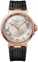 Мужские спортивные часы Breguet Marine 5517BR_12_5ZU в розовом золоте, светлый циферблат, черный каучук.