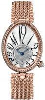 Женские классические часы Breguet Reine de Naples 8918BR_58_J20_D000 в розовом золоте с бриллиантовым рантом, перламутровый светлый циферблат с арабскими цифрами, браслет из розового золота.