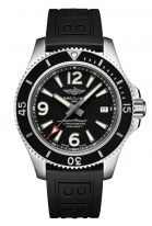 Мужские спортивные часы Breitling Superocean A17366021B1S1 с датой в стальном корпусе, черный циферблат, черный каучук.
