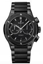 Мужские часы Hublot Classic Fusion 520_CM_1170_CM хронограф в керамическом корпусе, черный матовый циферблат, черный керамический циферблат