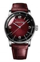 Мужские классические часы Audemars Piguet CODE1159 15210BC_OO_A068CR_01 в белом золоте с бордовым циферблатом, бордовый ремешок кроко.