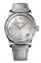 Мужские классические часы Audemars Piguet CODE1159 15210CR_OO_A009CR_01 в белом и розовом золоте с серым циферблатом, золотые цифры, серый ремешок кроко