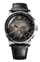 Мужские классические часы Audemars Piguet CODE1159 26393CR_OO_A002CR_01 хронограф в белом золоте, черный циферблат с цифрами и метками из розового золота, черный ремешок кроко